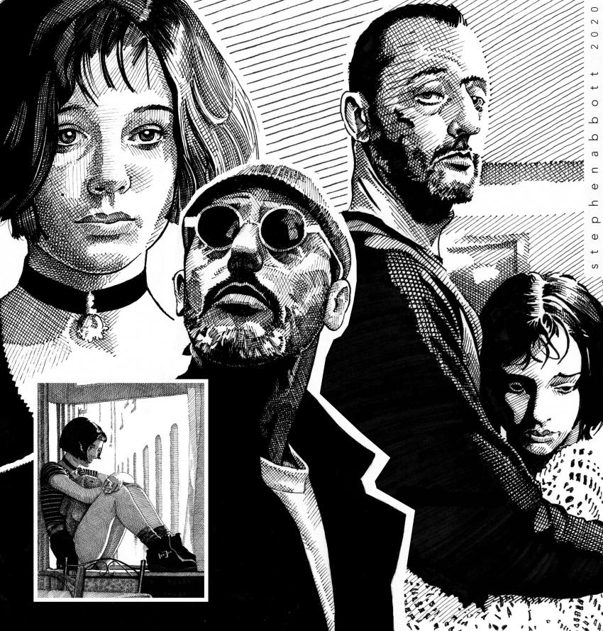 Jean Reno, Natalie Portman, Luc Besson par Stefanosart